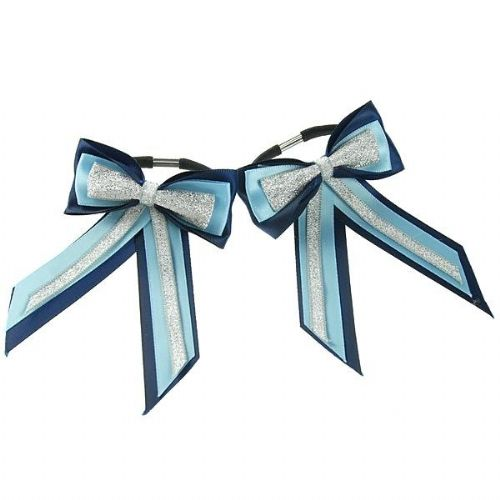 ShowQuest Piggy Bow & Tails in Navy/Blue/Silver